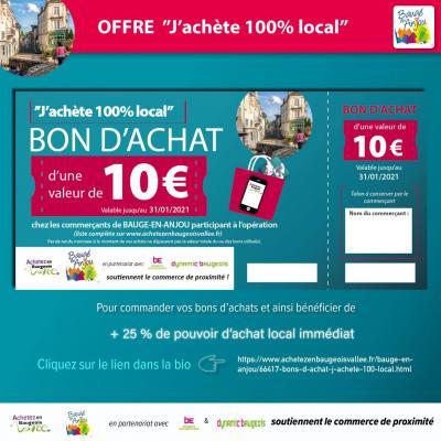Bons d'Achat - Achetez en Baugeois
